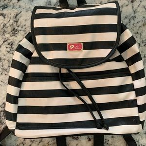 Black and White Bestyville Striped Backpack